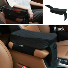 Universal Car Armrest Pad Cover Auto Center Console PU Leather Cushion Black
