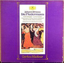 2 LP BOX DGG J. Strauss CARLOS KLEIBER Die Fledermaus POPP PREY KOLLO 2707 088