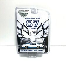 "Greenlight | 1:64 1978 Pontiac Firebird ""Macho Trans Am"" White Blue | In Stock"