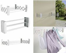 Leifheit Teleclip 60 Wall Mounted Concertina Airer Indoor Outdoor Clothes Dryers