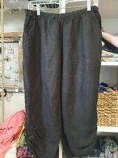 Women's Black Linen Match Point Pants Large