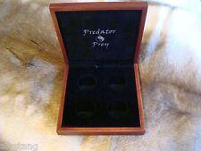 OFFICIAL PREDATOR/PREY SERIES 4-COIN CUSTOM WOOD BOX