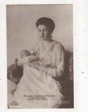 Prinzessin Joachim Von Preussen & Karl Franz Joseph RP Postcard Germany 047b