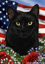 Patriotic (1) House Flag - Black Cat 16951