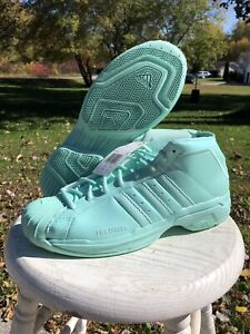 New Adidas Pro Model 2G Tiffany Mint Aqua Basketball Shoe Size 11.5 EH1952