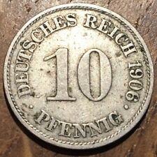 PIECE DE 10 PFENNIG EMPIRE 1906 A ALLEMAGNE (398)