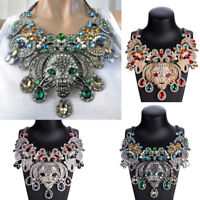 Great necklace Gorgeous Unusual Colorful Rhinestone Creature Necklace HUGE!