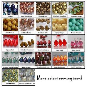 Teardrop Czech Glass Beads 6x4mm 50 Choose Color NEW ARRIVALS