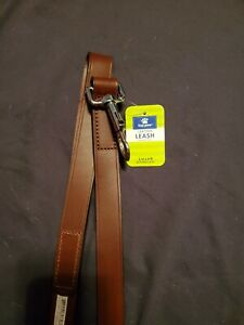 Top Paw Brown Leather Leash 4 Foot Long 1 Inch Wide  New With Tags