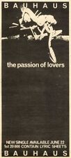 27/6/81PN15 ADVERT 8X3 BAUHAUS : THE PASSION OF LOVERS