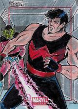 Marvel Universe 2014 Sketch Card by Rogerio DeSouza of Wonder Man