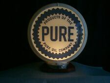 PURE & LIGHT STAND NEW reproduction gas pump globe 2 glass lens