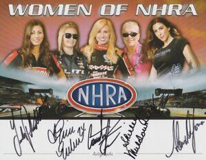 2015 Women Of NHRA signed SEMA Hero Card PRUETT ENDERS FORCE MULDOWNEY DEJORIA