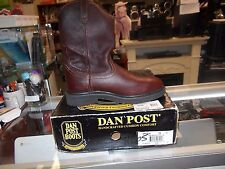 Dan Post DP69622 Size 8.5D Rigger Briar Oiled Leather Western Work Boot BROWN