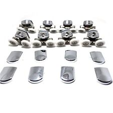 New Replacement Shower Door Fixing Wheels in Chrome - 4x Top  4x Bottom - Fits