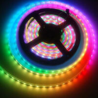 5050 RGB LED Strip 5M 300 LED 12V Flexible Tape Strip Light White Black TLX