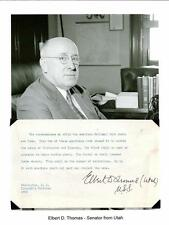 ELBERT THOMAS Autograph Mormon LDS Church Senator Utah Amici Fidissimi Society 2