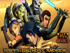 Star Wars REBELS Edible Photo CAKE Image Icing Topper Decoration FREE SHIPPING