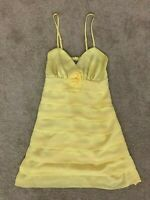 Sheike Womens Short Yellow Summer Dress Size 10, Gorgeous Design