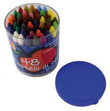 48 Stück farbige Wachsmalstifte im Set 48x bunte Wachsmalkreide im Eimer