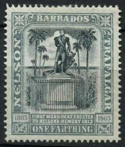 Barbados 1906 SG#145, 1/4d Nelson Centenary MH #A95366