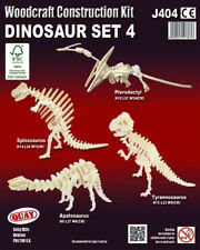 DINOSAUR SET 4 Woodcraft Construction Kit - 4 Wooden 3D Models For KIDS/ADULTS