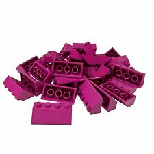 Lego 4 Bright Pink 1x2 Finishing tile NEW