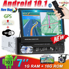 Android10.1 Flip Out Single 1Din GPS Navi Car Stereo Radio 7
