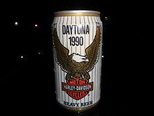 Harley-davidson Unopened Beer Can 1990 Daytona Bike Rally RARE Find