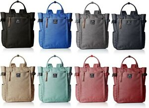 100% Authentic! Anello AT-C1225 2way Nylon Polyester canvas Backpack 8 Colors JP