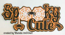 Halloween Spooky Cute paper piecing Title Premade Scrapbook Pages by Rhonda