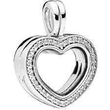 PANDORA Charm Anhänger Medaillon 797248 CZ Herz Silber