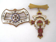 Vintage Knights Templar Masonic Pin Medal Enamel Lot of 2