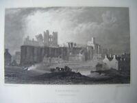 1830 Antique Print CAERPHILLY, GLAMORGANSHIRE ~ Gastineau