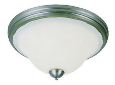 Brushed Nickel And Frosted Glass Ceiling Fixture 18""