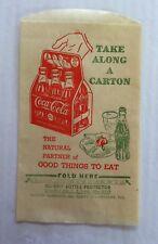 Coke Coca Cola Bottle Protectors Sleeve with 6 Pack Bottles ca1942