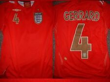 Inghilterra gerrard Camicia L RAGAZZO RAGAZZA gioventù Umbro Football Calcio Jersey Liverpool ~