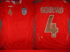 England GERRARD Shirt L Boys Girl Youth Umbro Football Soccer Jersey Liverpool ~