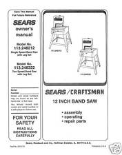 "Craftsman  12 "" Operators Manual 113.24832"