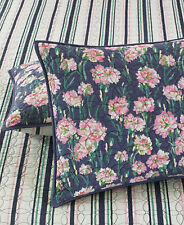 New MARTHA STEWART Carnation Field Floral Purple Quilted Standard Pillow Sham