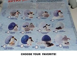Burger King 2006 Happy Feet Penguin Mystery Egg Toys-Pick Your Favorite!