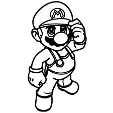 Decal Vinyl Truck Car Sticker - Video Games Super Mario