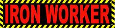 HARD HAT STICKERS, IRONWORKER, CIW-13