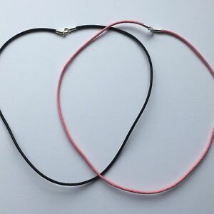Cotton weave cord necklace length: 18 inch / 46 cms- Pink & Black