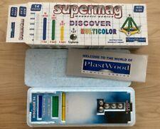Org. SUPERMAG: OVP: Discover Multicolor, Magnetspiel, 14 Teile, Blau, Grün, Gelb