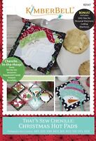 Kimberbell That's Sew Chenille Christmas Hot Pads MACHINE EMBROIDERY CD (KD547)