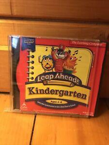 Leap Ahead Kindergarten Age 4-6 PC MAC CD learn fundamentals, school head start!