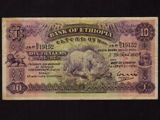 Ethiopia:P-8,10 Thalers,1933 * Leopard * First Issue ! * VF *