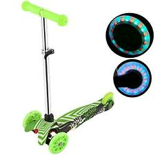 3 LED Rad Kinderscooter Tretroller Kickboards Funscooter Kinder Rroller E 35