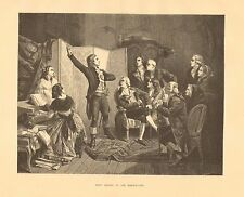 French National Anthem, First Singing Of The Marseillaise, 1876 Antique Print,
